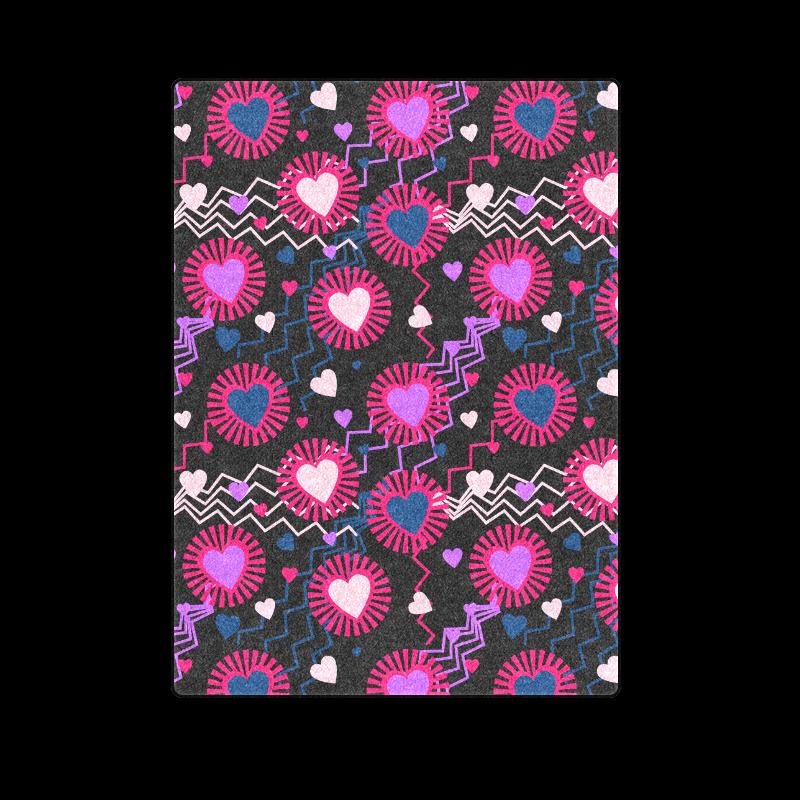 """Punk Rock Hearts Blanket 58""""x80"""""""