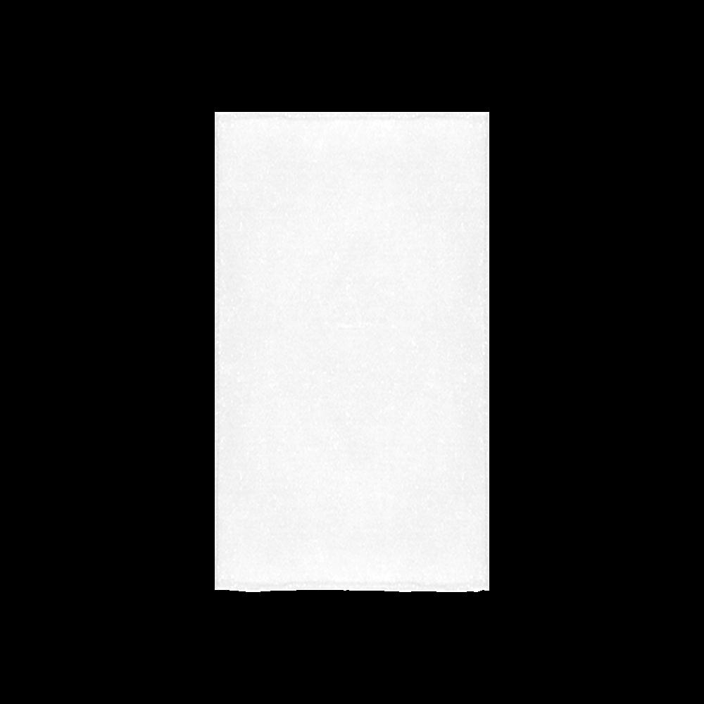 "Orange Geometric Triangle Pattern Custom Towel 16""x28"""