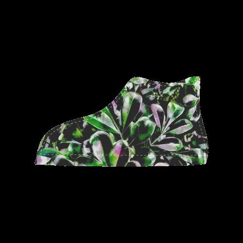 Foliage #6 - Jera Nour Women's High Top Canvas Shoes (Model 002)