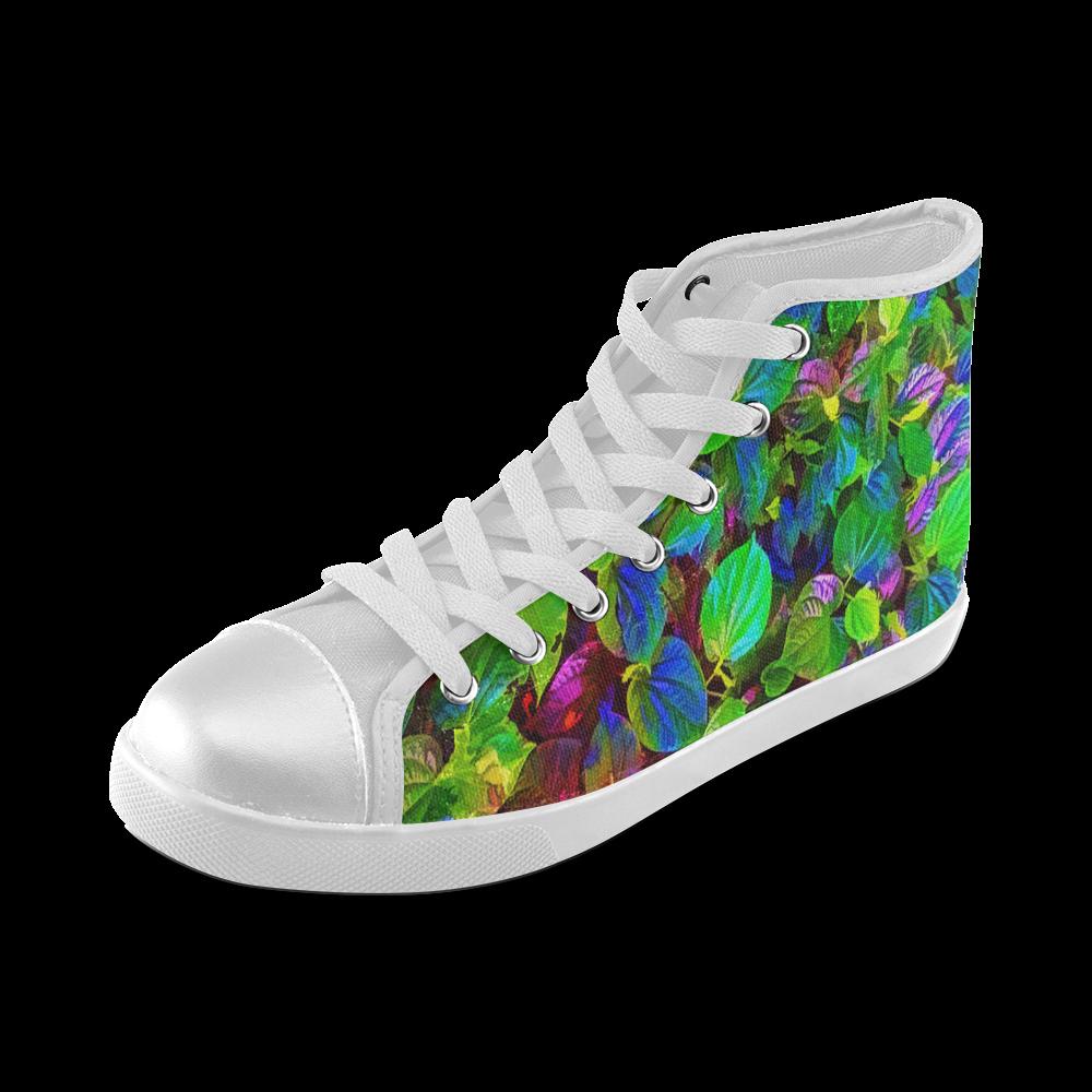 Foliage #7 - Jera Nour Women's High Top Canvas Shoes (Model 002)
