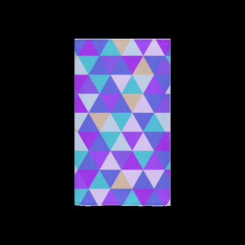 """Purple Geometric Triangle Pattern Custom Towel 16""""x28"""""""