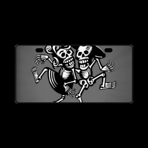lets dance- Skulls License Plate