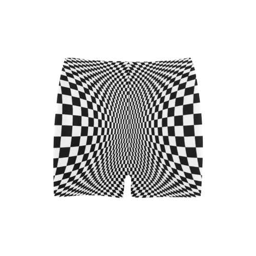 Optical Illusion Checkers Chequers Briseis Skinny Shorts (Model L04)