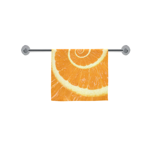 "Citrus Orange Spiral Droste Custom Towel 16""x28"""