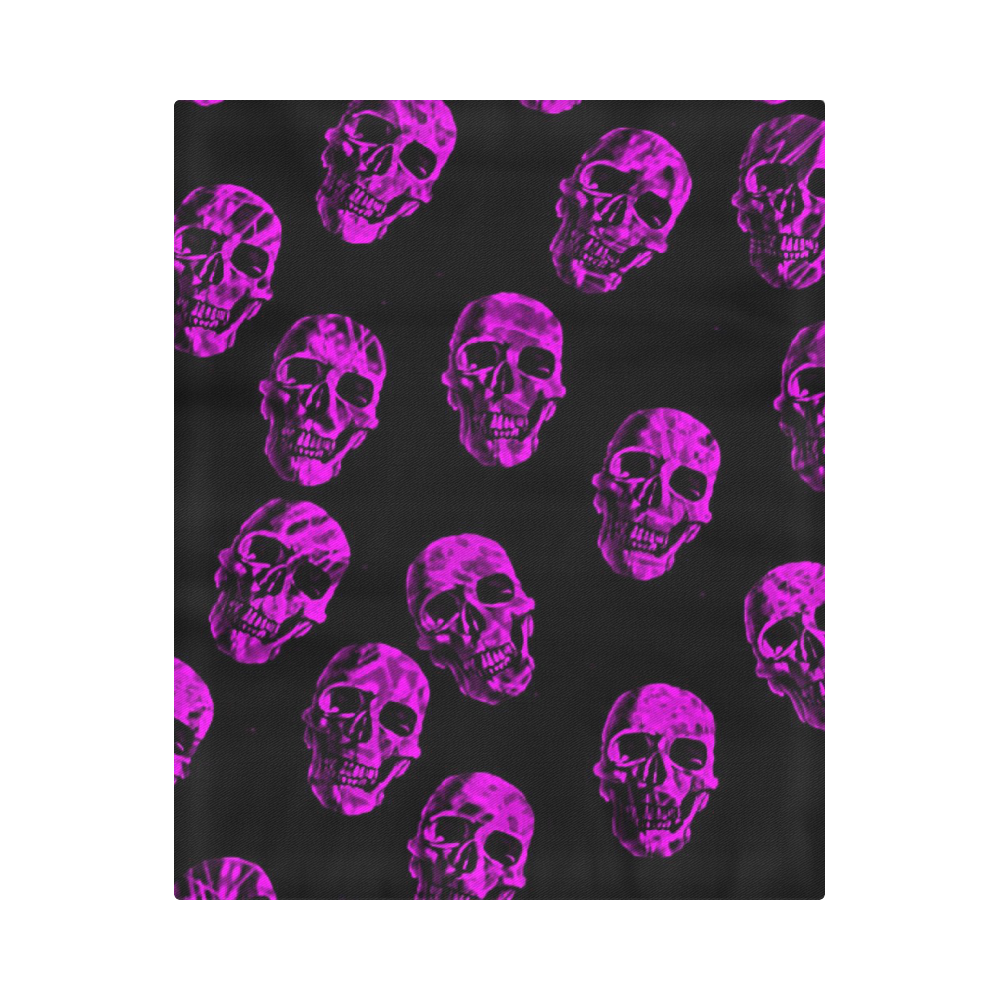 """purple skulls Duvet Cover 86""""x70"""" ( All-over-print)"""