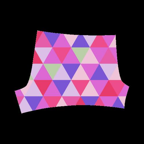 Pink Geometric Triangle Pattern Briseis Skinny Shorts (Model L04)