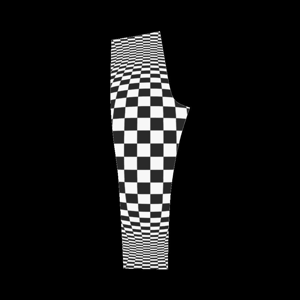 Optical Illusion Checkers Chequers Capri Legging (Model L02)