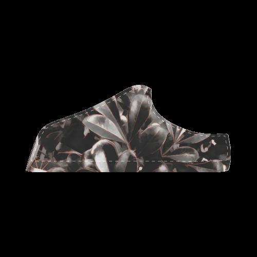Foliage #1 Red Edge - Jera Nour Women's Chukka Canvas Shoes (Model 003)