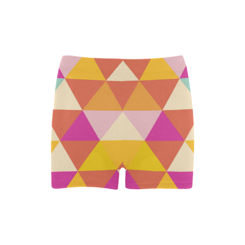 Yellow Geometric Triangle Pattern Briseis Skinny Shorts (Model L04)