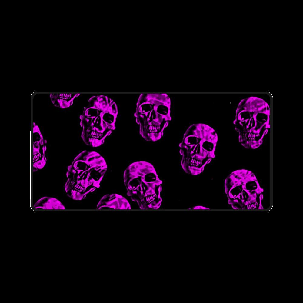 purple skulls License Plate