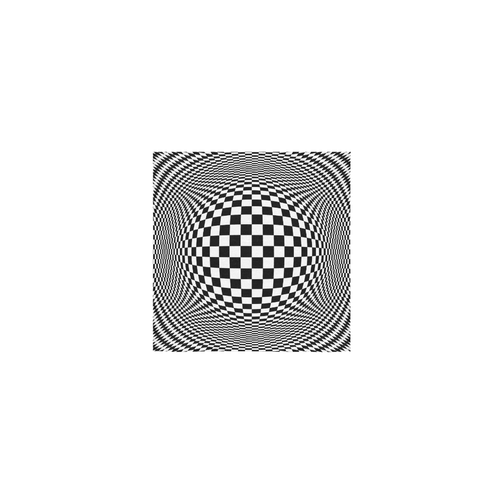 "Optical Illusion Checkers Chequers Square Towel 13""x13"""