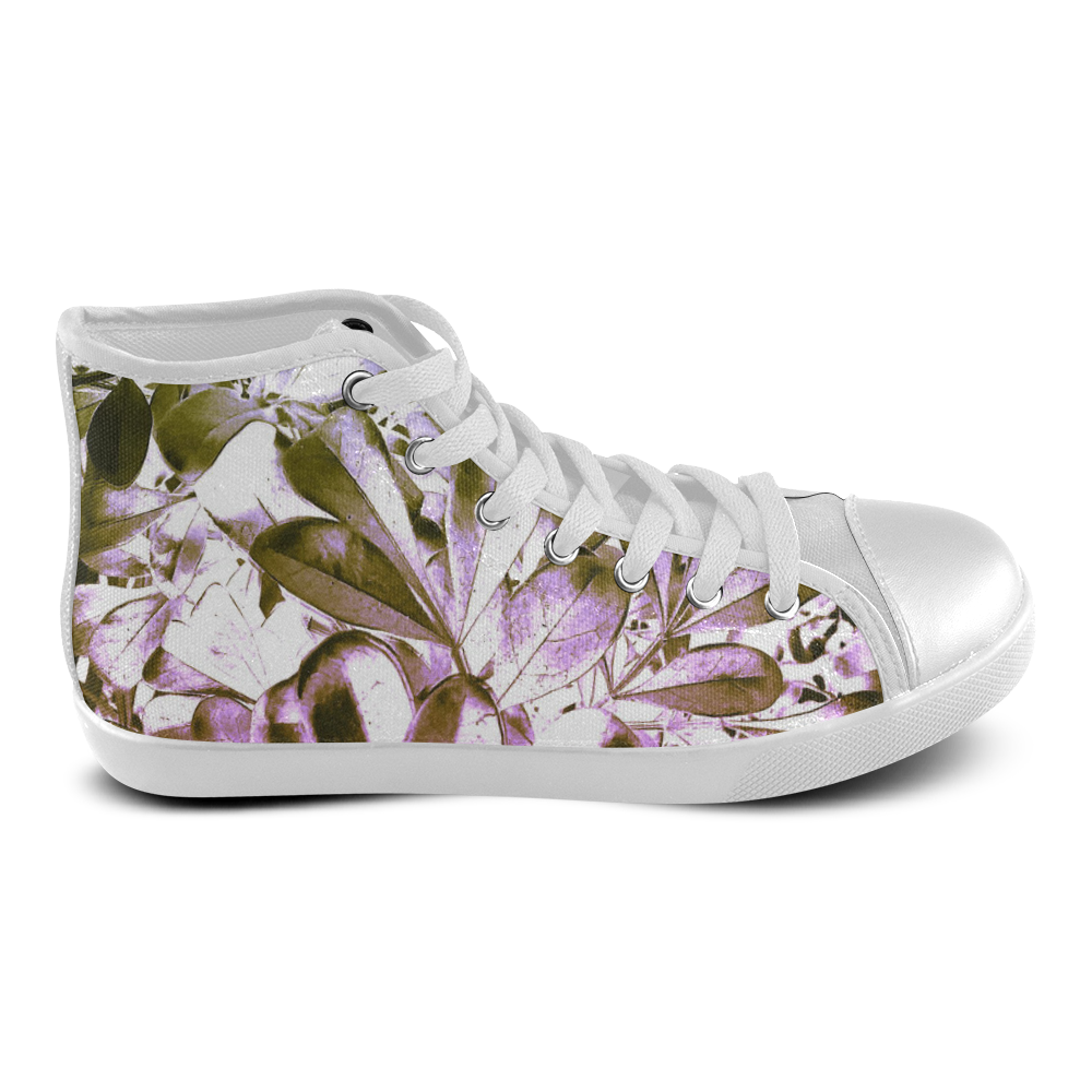 Foliage #4 - Jera Nour Women's High Top Canvas Shoes (Model 002)