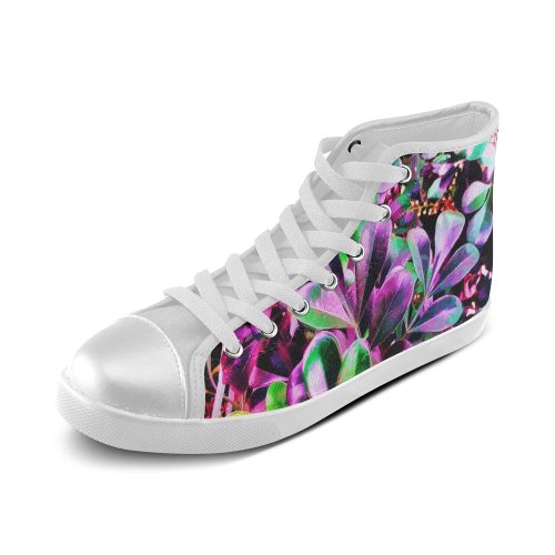 Foliage #3 - Jera Nour Women's High Top Canvas Shoes (Model 002)
