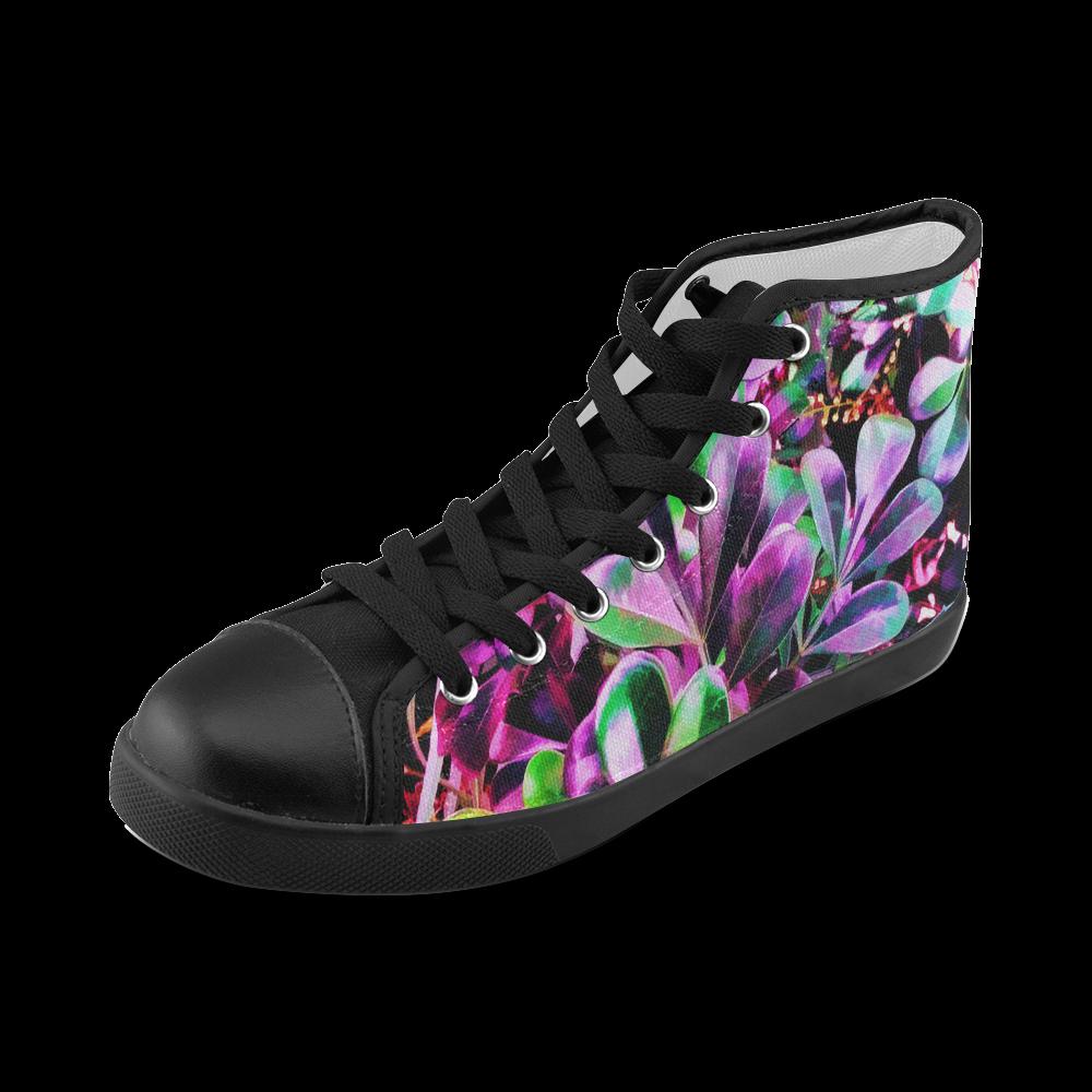Foliage #3 - Jera Nour Women's High Top Canvas Shoes (Model 002)