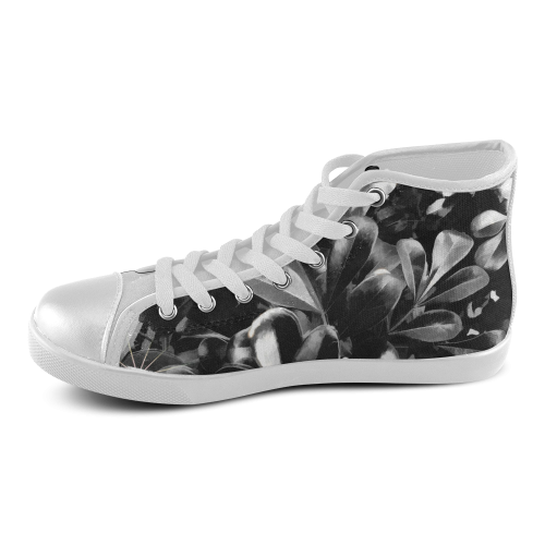Foliage #1 - Jera Nour Women's High Top Canvas Shoes (Model 002)