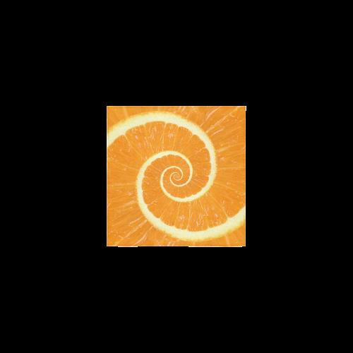 "Citrus Orange Spiral Droste Square Towel 13""x13"""