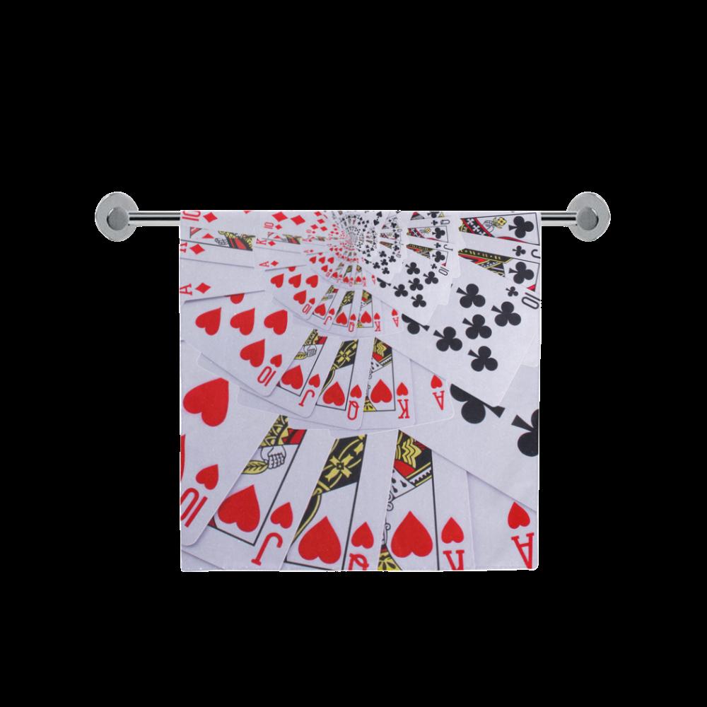 """Royal Flush Poker Cards Spiral Droste Bath Towel 30""""x56"""""""