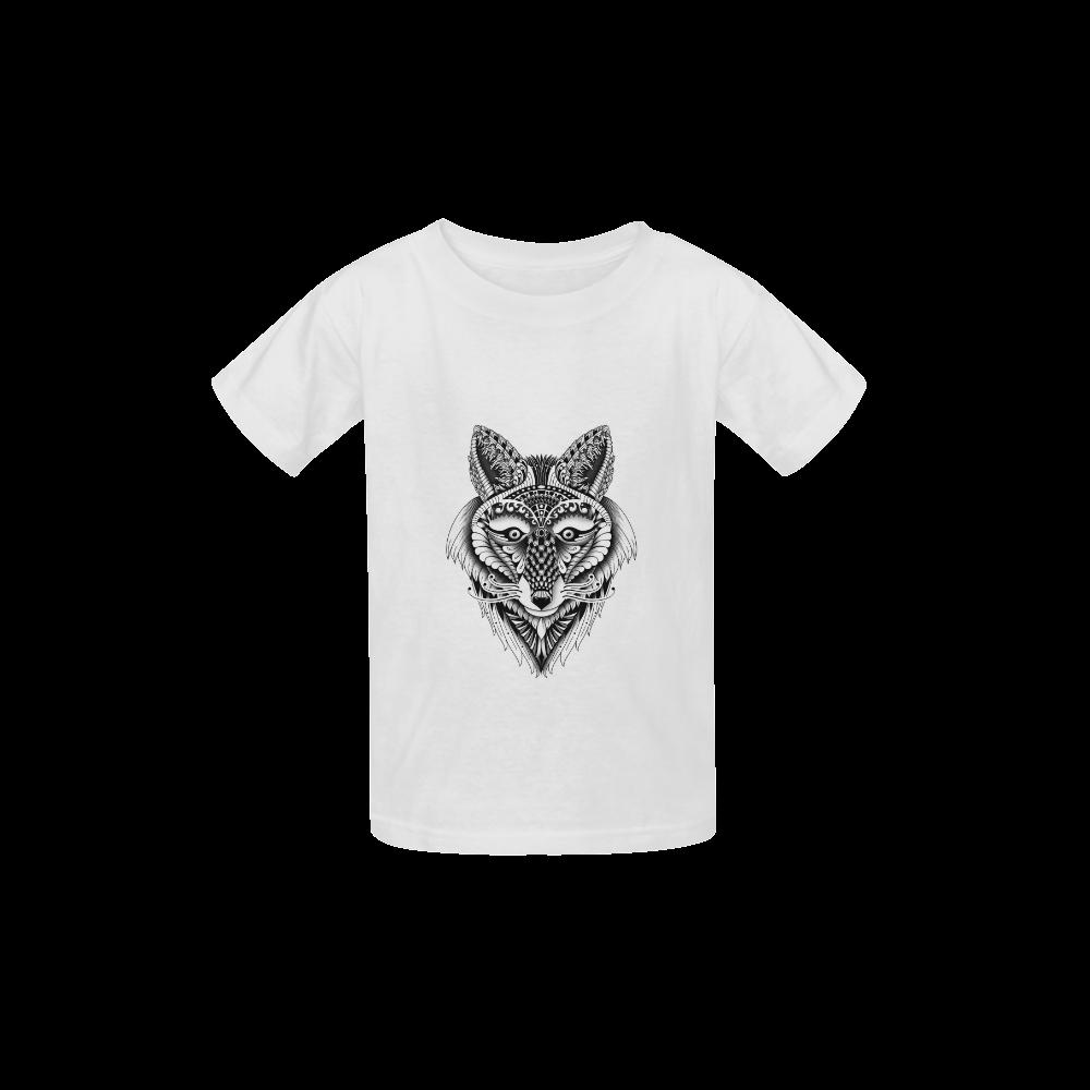 Foxy Wolf ornate animal drawing Kid's  Classic T-shirt (Model T22)