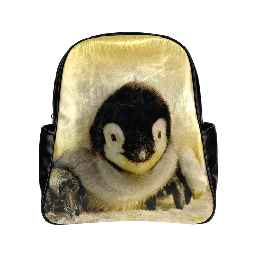 baby penguin Multi-Pockets Backpack (Model 1636)