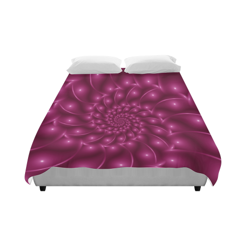 "Glossy Grape Pink Spiral Duvet Cover 86""x70"" ( All-over-print)"