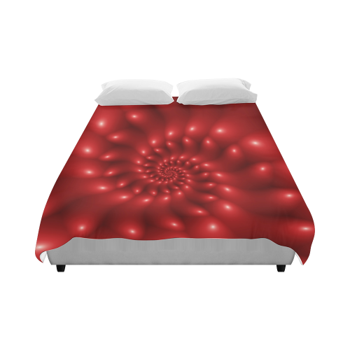 """Glossy Red Spiral Duvet Cover 86""""x70"""" ( All-over-print)"""