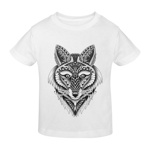Foxy Wolf ornate animal drawing Sunny Youth T-shirt (Model T04)