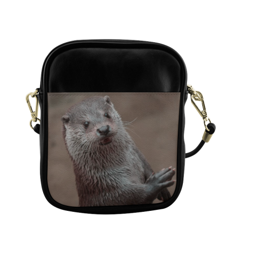 sweet young otter Sling Bag (Model 1627)