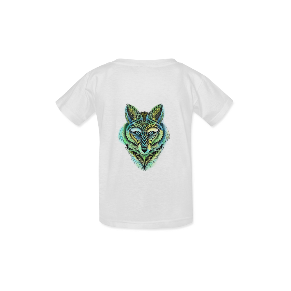 water color ornate foxy wolf head ornate drawing Kid's  Classic T-shirt (Model T22)