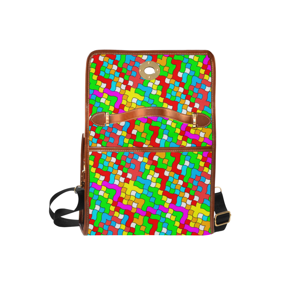 school party colorful Waterproof Canvas Bag/All Over Print (Model 1641)
