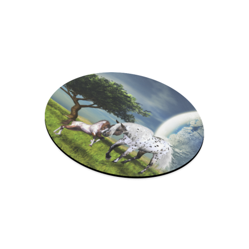 Horses Love Forever Round Mousepad