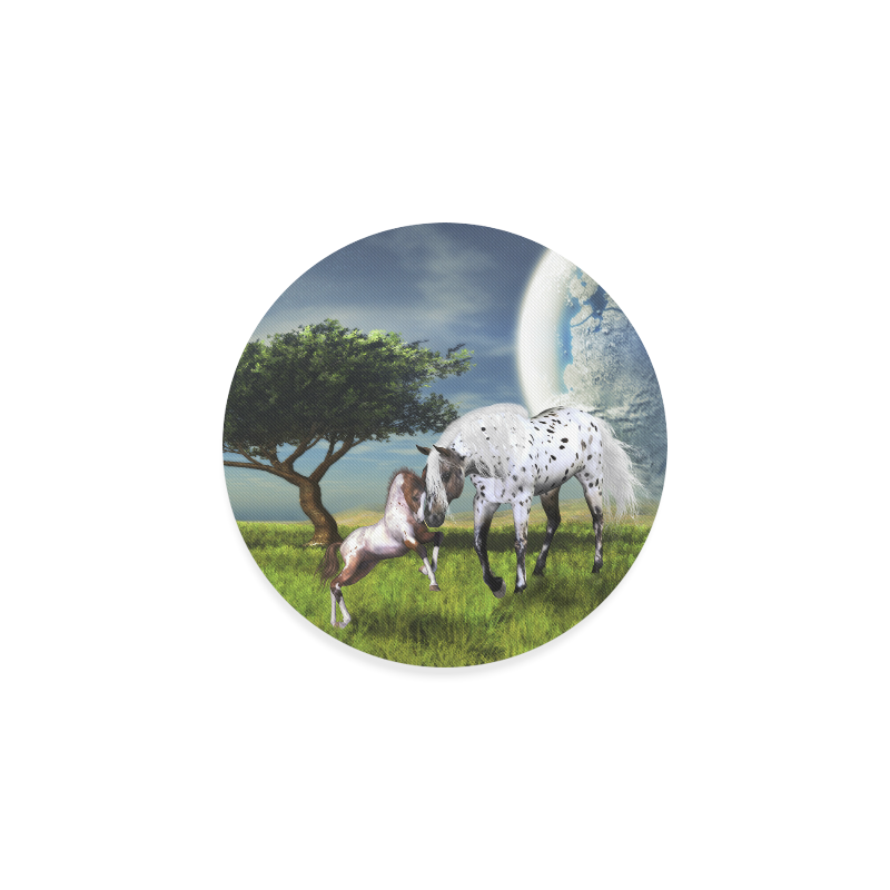 Horses Love Forever Round Coaster