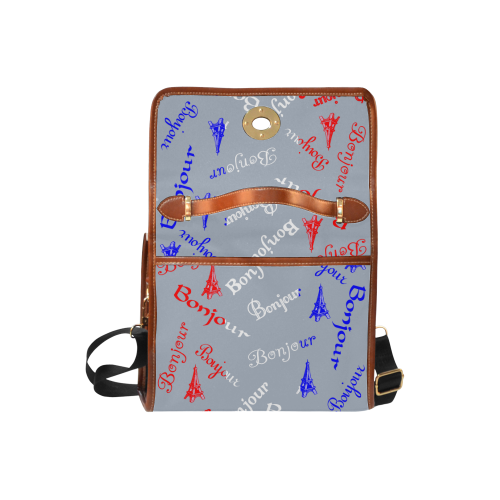 Fench Flag Bonjour Waterproof Canvas Bag/All Over Print (Model 1641)