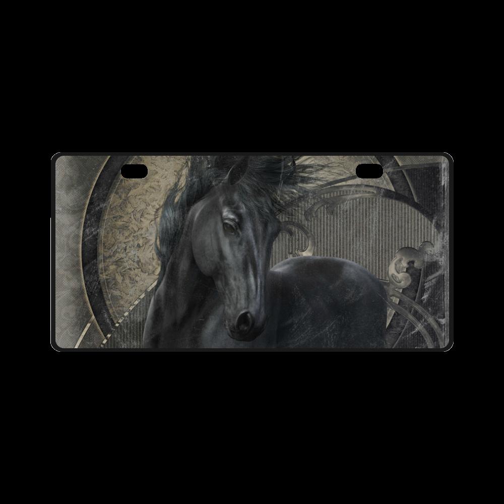 Gothic Friesian Horse License Plate