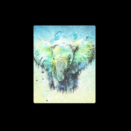 "watercolor elephant Blanket 40""x50"""