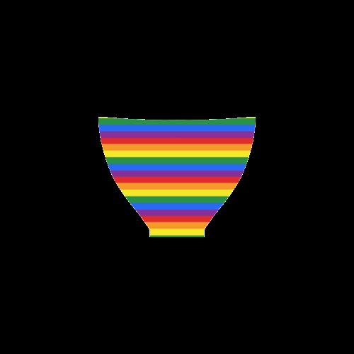 Gay Pride Rainbow Stripes Custom Bikini Swimsuit