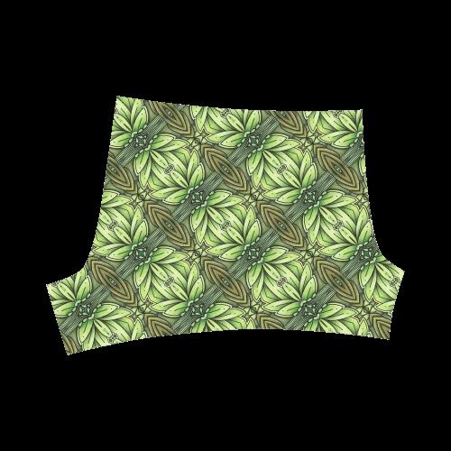 Mandy Green - Leaf Weave small foliage Briseis Skinny Shorts (Model L04)