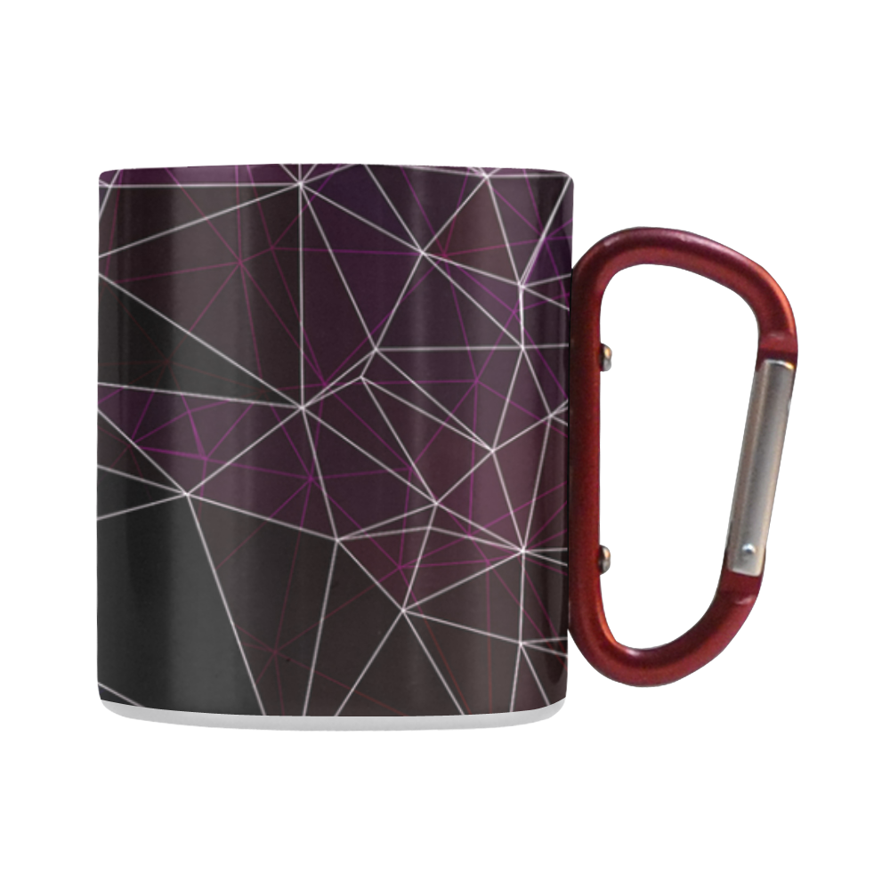 Polygons purple and black Classic Insulated Mug(10.3OZ)