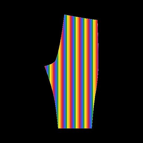 Gay Pride Rainbow Stripes Hestia Cropped Leggings (Model L03)