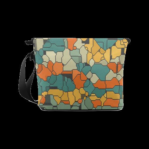 Textured retro shapes Crossbody Bag (Model 1631)