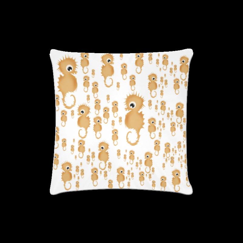 "Sea Horses Custom Zippered Pillow Case 16""x16""(Twin Sides)"