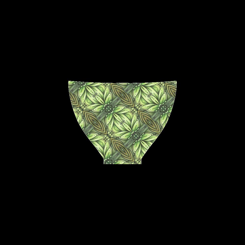Mandy Green - Leaf Weave bold leaves Custom Bikini Swimsuit