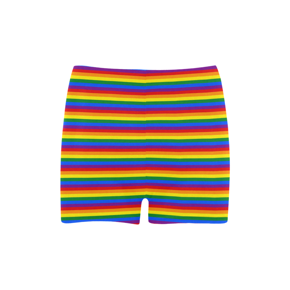 Gay Pride Rainbow Stripes Briseis Skinny Shorts (Model L04)