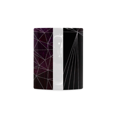 Polygons purple and black White Mug(11OZ)