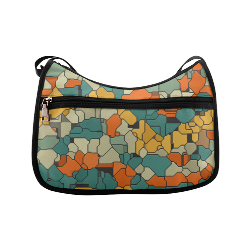 Textured retro shapes Crossbody Bags (Model 1616)