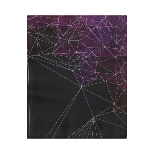 "Polygons purple and black Duvet Cover 86""x70"" ( All-over-print)"