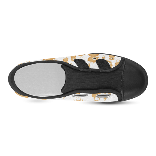 Sea Horses Velcro Canvas Kid's Shoes (Model 008)