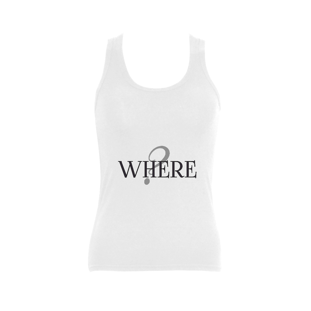 Where? Women's Shoulder-Free Tank Top (Model T35)