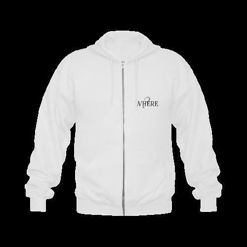 Where? Gildan Full Zip Hooded Sweatshirt (Model H02)