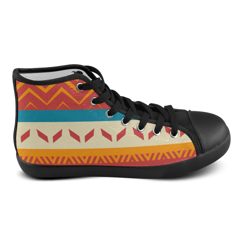 Tribal shapes Men's High Top Canvas Shoes (Model 002)