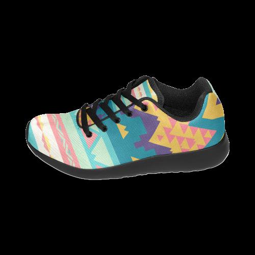 Pastel tribal design Women's Running Shoes (Model 020)